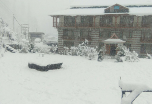Solang Ski Resort Snowfall