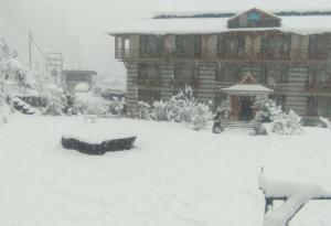 Solang Ski Resort Snowfall